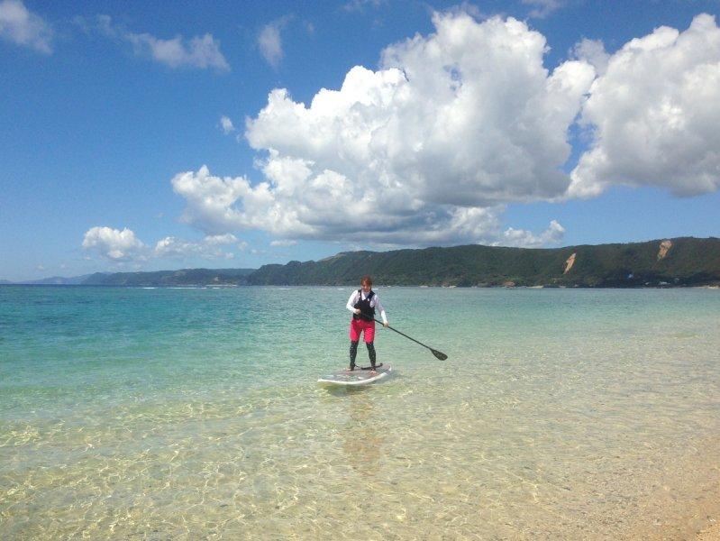 ターコイズブルーの海をSUPで楽しむ!体験SUPツアー(No.9)