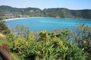 奄美大島の清水海水浴場