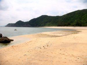 奄美大島の徳浜海水浴場